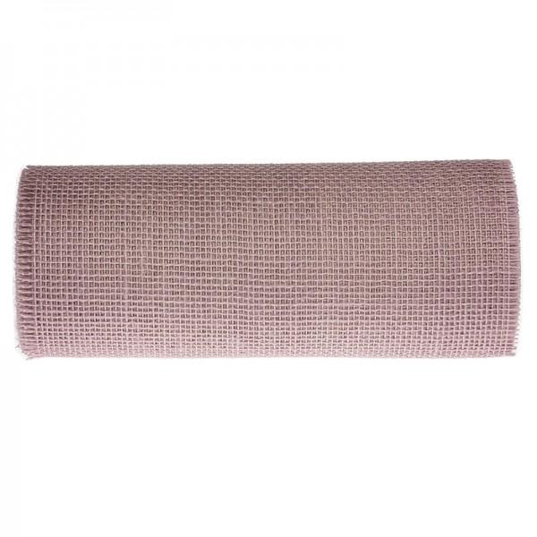 DEKOR-Jute - Tischläufer: 300mm breit / 10m-Rolle, puderrosa