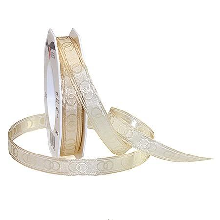 ALLIANCE-Hochzeitsband: 15mm breit / 20m-Rolle, creme