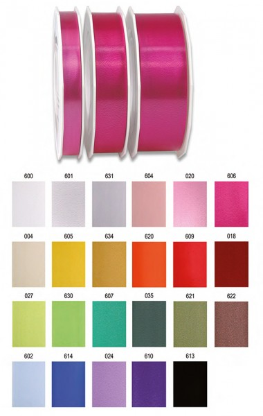 "Farbkarte Polyband ""AMERICA"", 25mm breit / 91m-Rolle"