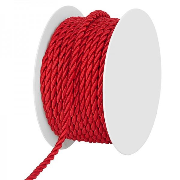 Kordel, einfarbig gedreht: 4mm breit Ø / 25m-Rolle