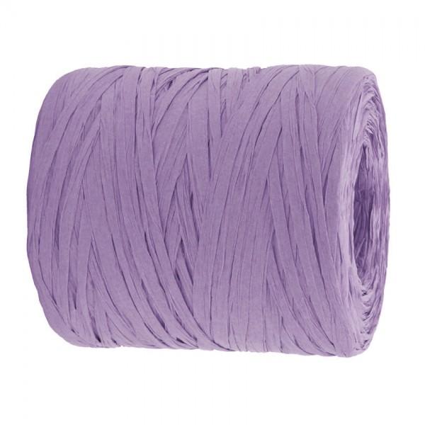 PAPER-Raffia-Bast, lavendel: 5mm breit / 200m-Rolle