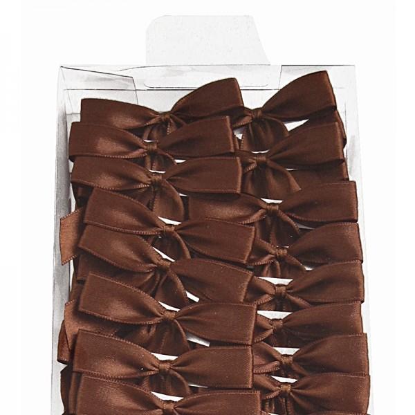 2-Flügel Fertigschleifen: Kaffeebraun = 100 Stück