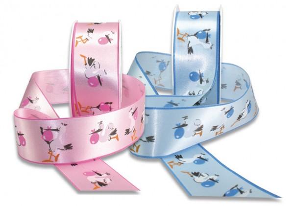 Babyband ADEBAR, rosa: 40 mm breit / 20m-Rolle, mit feiner Webkante