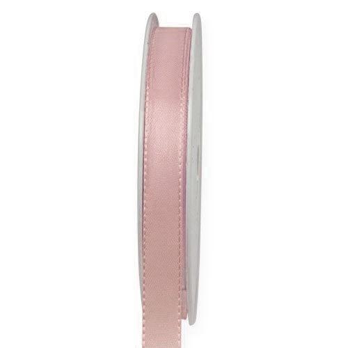 Taftband, rosa: 10mm breit / 50-Rolle, mit feiner Webkante