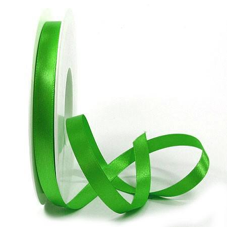 Satinband-SINFINITY, apfelgrün: 10mm breit / 25m-Rolle, mit feiner Webkante