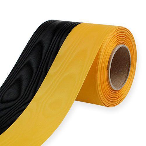 Vereinsband: 125mm breit / 25m-Rolle, schwarz-gelb