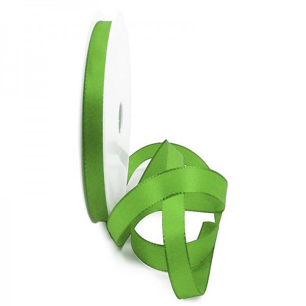 Taftband, lindgrün: 10mm breit / 50-Rolle, mit feiner Webkante