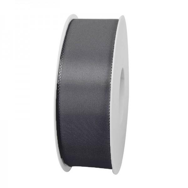 Taftband, dunkelgrau: 40mm breit / 50m-Rolle, mit feiner Webkante