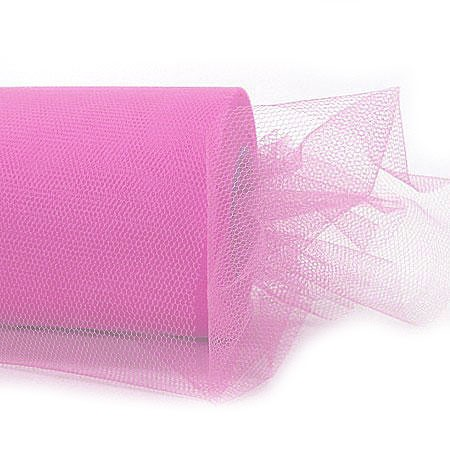 Tüllband, 100mm breit / 50m-Rolle, rosaTüllband, 100mm breit / 50m-Rolle, rosa