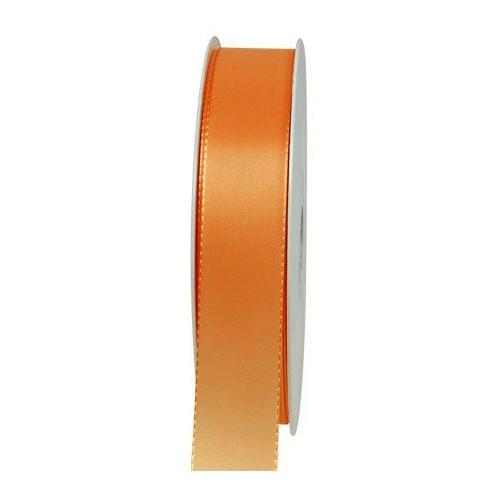 Taftband, orange: 25mm breit / 50m-Rolle, mit feiner Webkante.