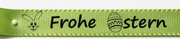 Frohe Ostern lindgrün: 15mm breit / 25m-Rolle