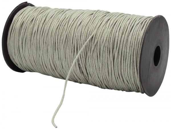 Gewachste Baumwollkordel, grau: 1,5 mm / 200 Meter
