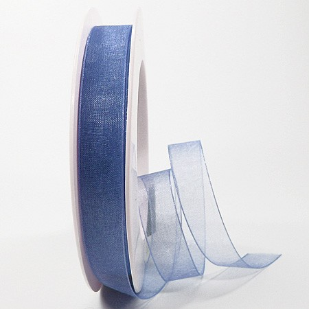 Organzaband: 15mm breit / 25m-Rolle, aquablau