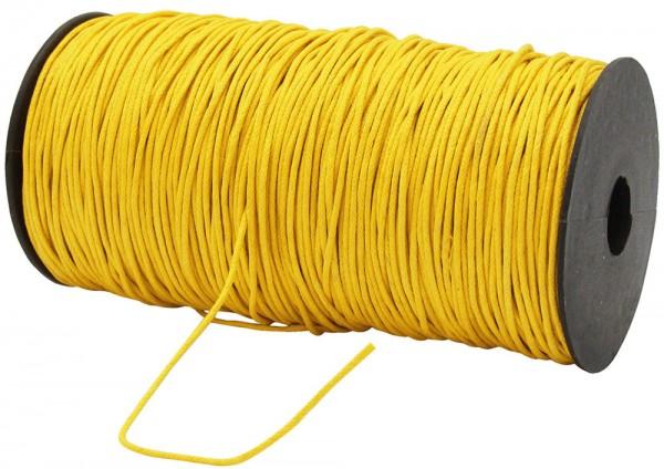 Gewachste Baumwollkordel, gelb: 1,5 mm Ø breit / 200 Meter