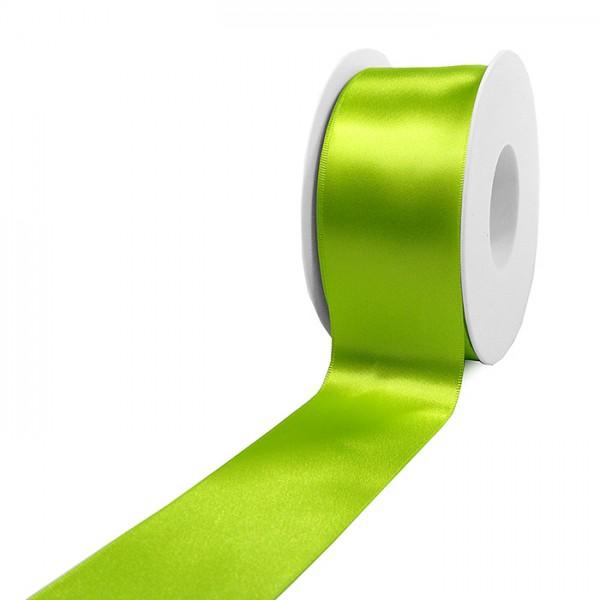 Satinband-SINFINITY, lindgrün: 50mm breit / 25m-Rolle, mit feiner Webkante