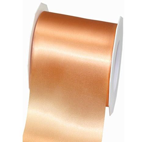 Satinband-ADRIA, Tischband: 72 mm breit / 25-Meter-Rolle, apricot
