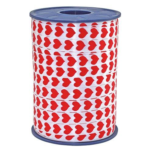 Ringelband-Honeymoon: 10mm breit / 250m-Rolle, weiß-rot