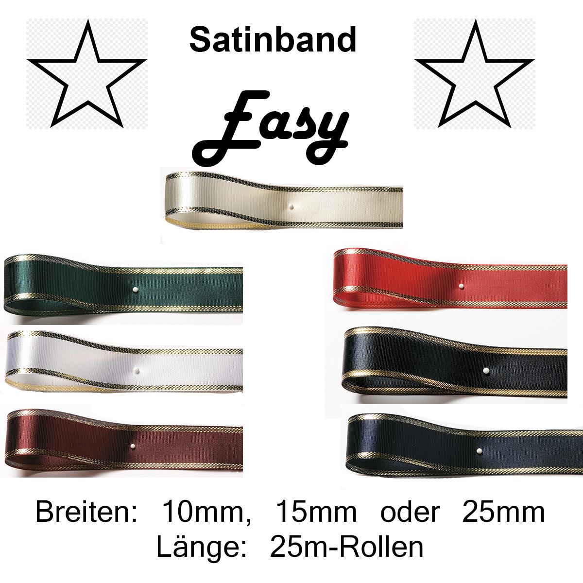 NEU Satinband creme 15mm x 25m