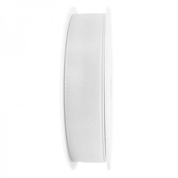 Taftband, weiß: 25mm breit / 50m-Rolle, mit feiner Webkante