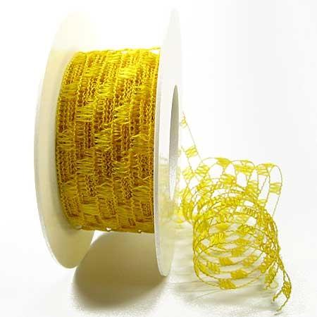 Gitterband, gelb: 40mm breit / 15m-Rolle.