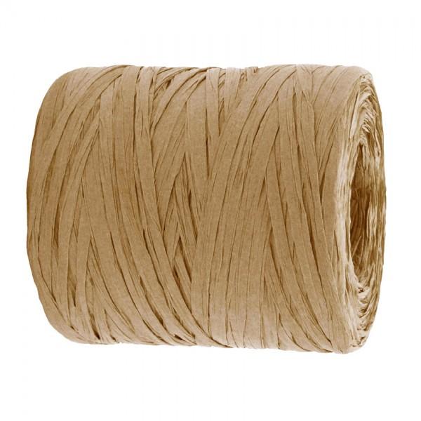 PAPER-Raffia-Bast, natur: 5mm breit / 200m-Rolle