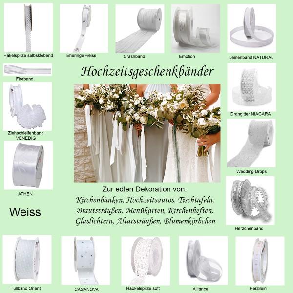 Hochzeitsgeschenkbänder Kollektion weiss