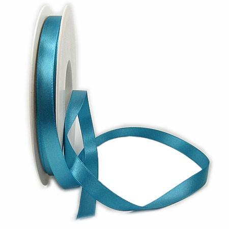 Satinband SINFINITY, dunkeltürkis: 10mm breit / 25m-Rolle, mit feiner Webkante.
