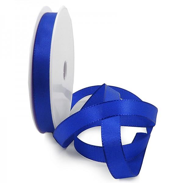 Taftband, royalblau: 10mm breit / 50-Rolle, mit feiner Webkante