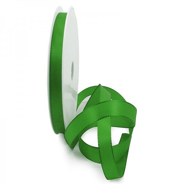 Taftband, apfelgrün: 10mm breit / 50-Rolle, mit feiner Webkante