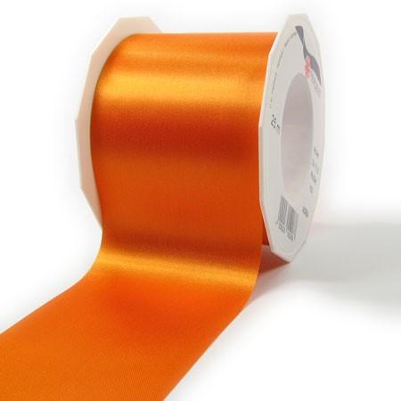 Satinband-ADRIA, Tischband: 72 mm breit / 25-Meter-Rolle, orange