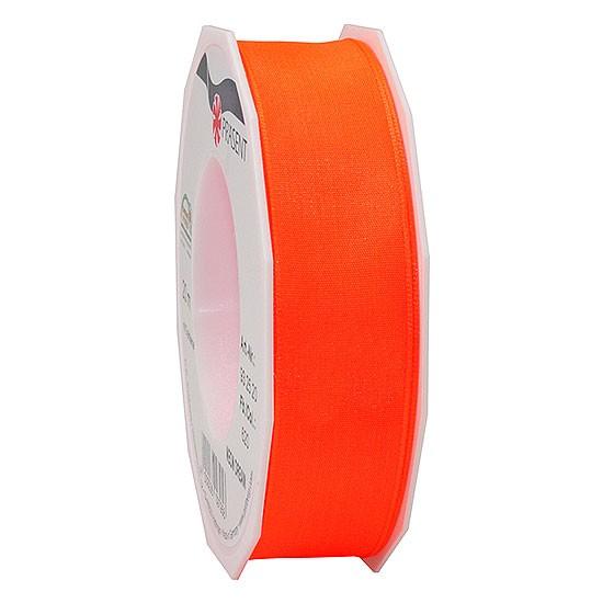 DREAM-Drahtkantenband: 25mm breit / 20m-Rolle, Neon-orange