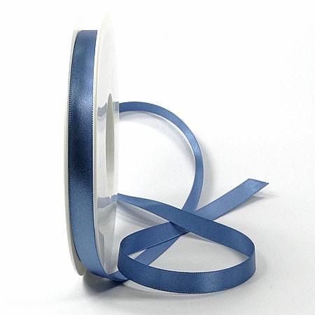 Satinband-SINFINITY, aquablau: 10mm breit / 25m-Rolle, mit feiner Webkante