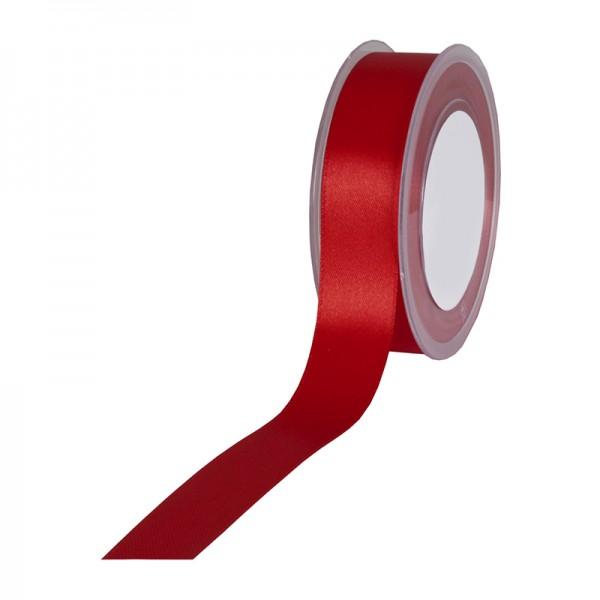 Satinband SIMPEL, weinrot: 25 mm breit / 25 Meter, mit einfacher schlichter Webkante.