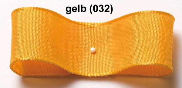 Drahtkantenband: 38mm breit / 25m-Rolle, gelb
