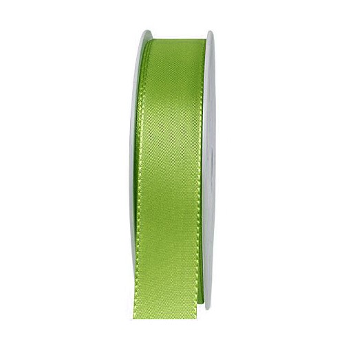 Taftband, lindgrün: 25mm breit / 50m-Rolle, mit feiner Webkante.