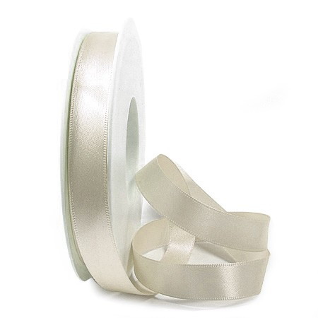 Satinband-SINFINITY, champagner: 15mm breit / 25m-Rolle, mit feiner Webkante
