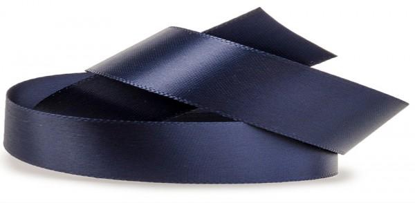 Satinband-SATINA, dunkelblau: 10 mm breit / 50 Meter