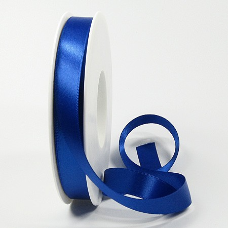 Satinband, 15mm breit / 25m-Rolle, royalblau