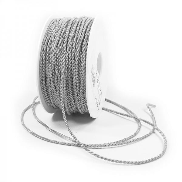Kordel: 2mm breit / 50m-Rolle, hellgrau