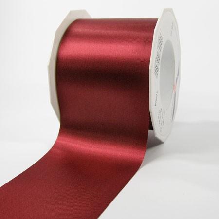 Satinband-ADRIA, Tischband: 72 mm breit / 25-Meter-Rolle, weinrot