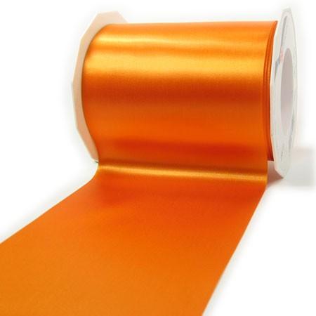 Satinband-ADRIA, orange: 112 mm breit / 25 m - Tischband