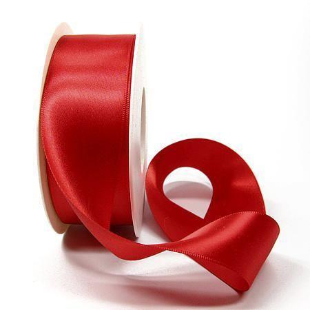 Satinband SATINA, rot: 40 mm breit, 50 Meter