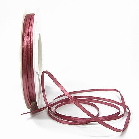 Satinband-SINFINITY: 3mm breit / 50m-Rolle, altrosa.