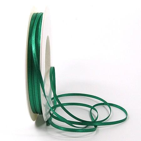Satinband SINFINITY, petrol: 3mm breit / 50m-Rolle, mit feiner Webkante.
