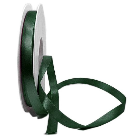 Satinband SINFINITY, tannengrün: 10mm breit / 25m-Rolle, mit feiner Webkante.