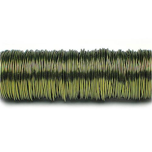 Decolackdraht, olivgrün: 0,5mm Ø - 50m-SNAP-Spule = 100 gramm