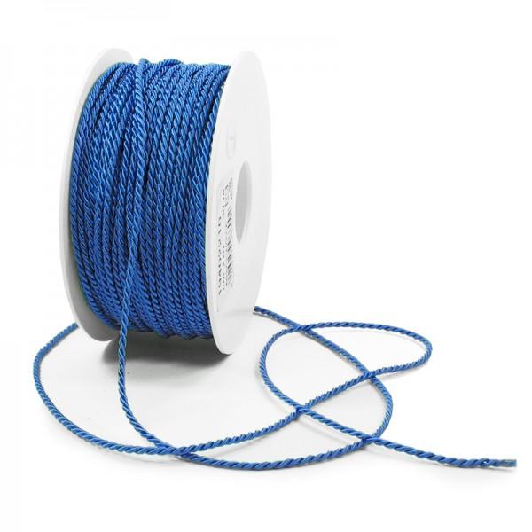 Kordel: 2mm breit / 50m-Rolle, aquablau