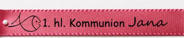 Beispiel Kommunionsband, pink: 15mm breit / 25m-Rolle