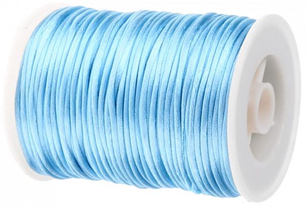 Satinkordel-Seidenkordel: 2mm Ø breit / 100m-Rolle, hellblau