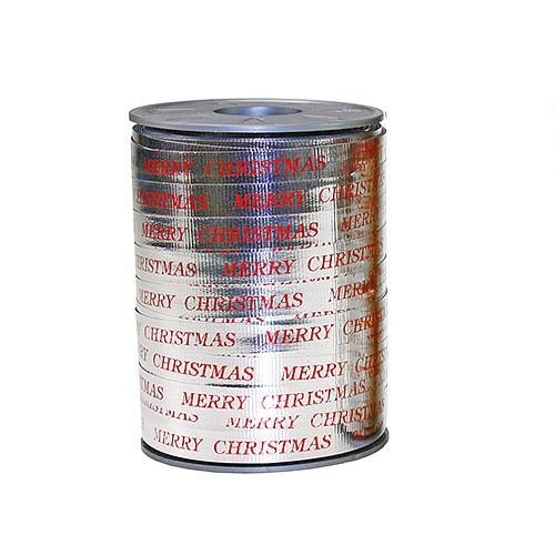 Ringelband, silber-metallic: 10mm breit / 250m-Rolle